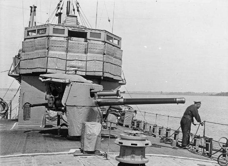 корабельное орудие QF-4 inch Mk-IV установленное на торговом судне