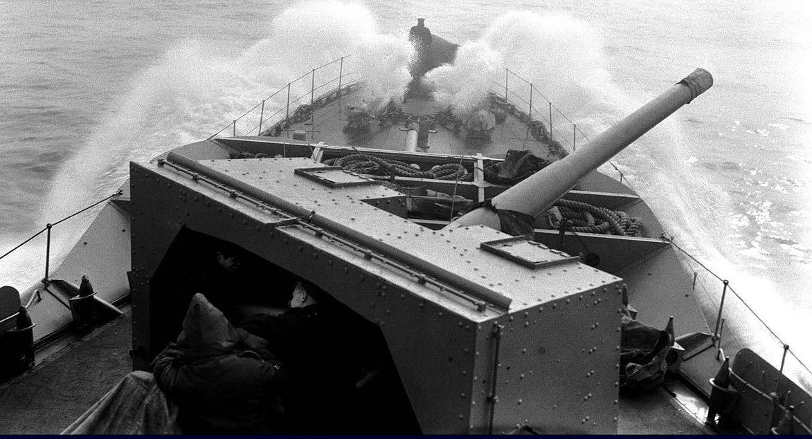 корабельное орудие QF 4.7-inch Mk-XII в одноорудийной башне
