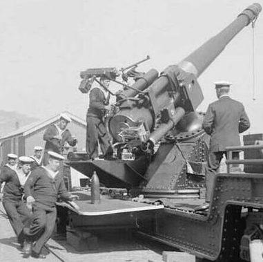 корабельное орудие QF-6 inch/40 в качестве зенитной пушки