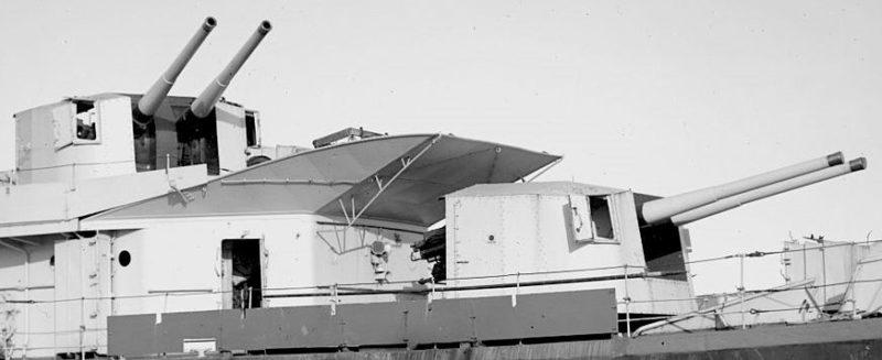 корабельное орудие QF 4.7-inch Mk-XII в двухорудийной башне