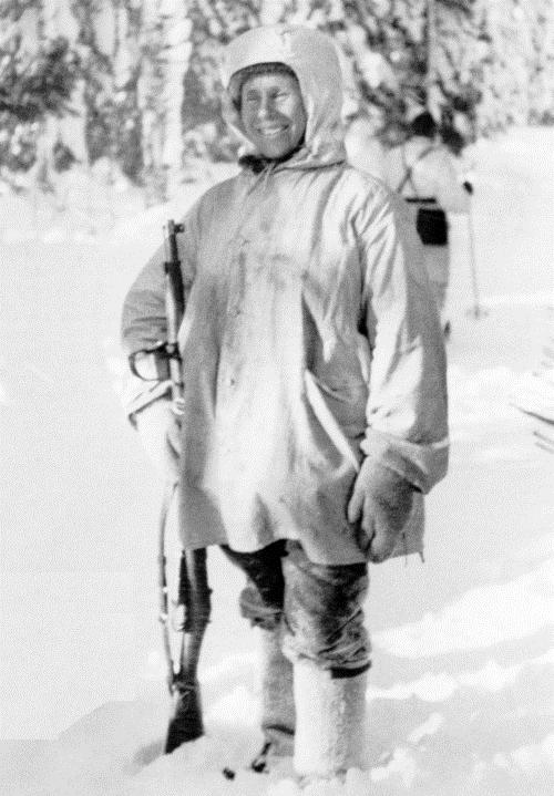 Финский снайпер Симо Хяюхя.