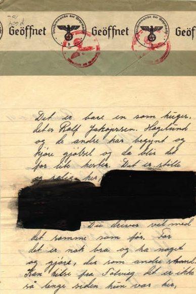 Письмо из оккупированной Норвегии в Соединенные Штаты, прошедшее цензуру
