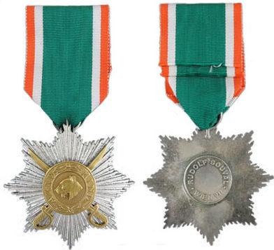 Аверс и реверс звезды 3-го класса с мечами «Герой Индии».
