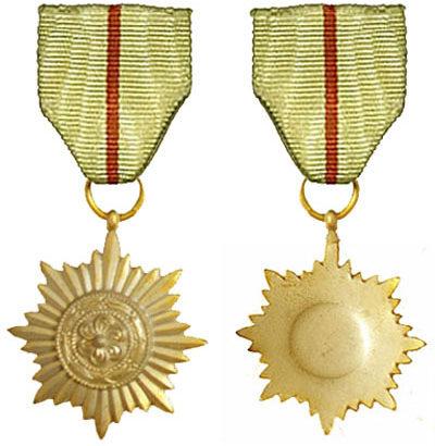 Аверс и реверс ордена 2-го класса в «золоте» без мечей армии Власова.