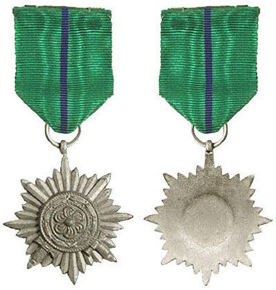 Аверс и реверс ордена 2-го класса в «серебре» с мечами армии Власова.