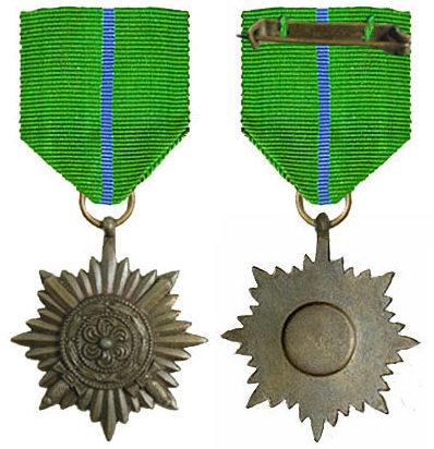 Аверс и реверс ордена 2-го класса «в бронзе» с мечами армии Власова.