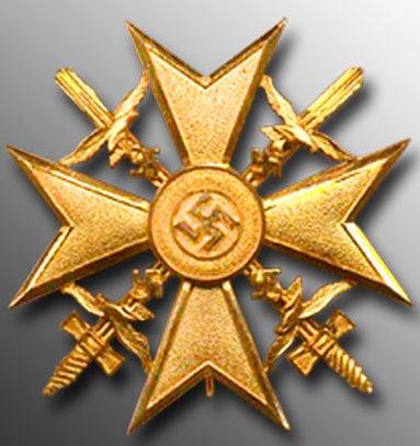 Аверс Золотого креста с мечами.