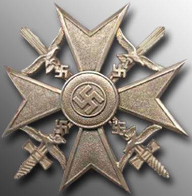 Аверс Серебряного креста с мечами.