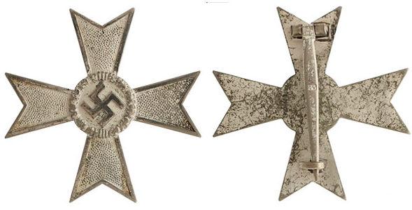 Аверс и реверс Креста военных заслуг 1 класса (Kriegsverdienstkreuz 1.Klasse).