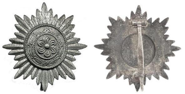 Аверс и реверс ордена I класса «в серебре».