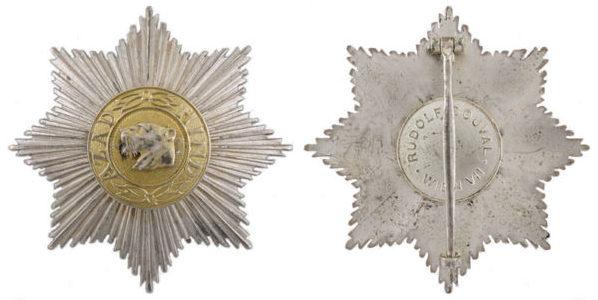 Аверс и реверс звезды 2-го класса «Полководец» на шпильке.
