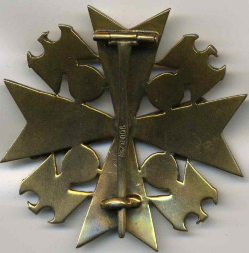 Реверс Ордена Немецкого Орла 4 класса с мечами.