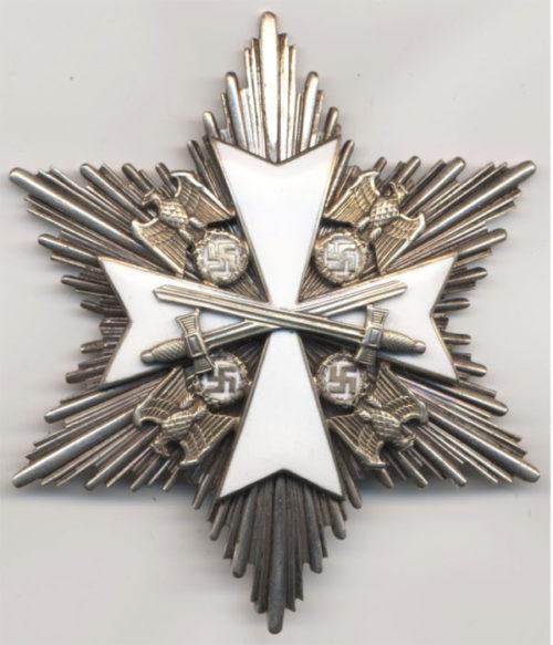 Аверс звезды к Большому Кресту Ордена немецкого Орла с мечами