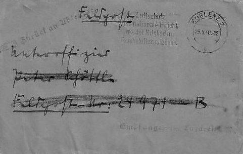 Письмо из США с отметкой цензора. Октябрь 1939 г.