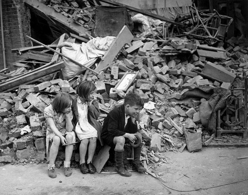 Дети войны. Лондон. 1941 г