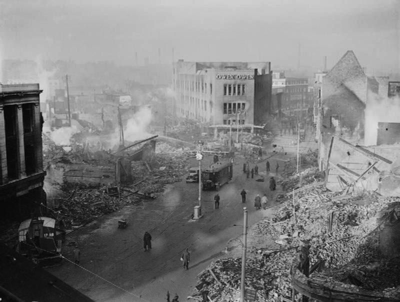 Центр города Ковентри. 15 ноября 1940 г.