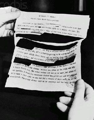 «Следы» японской военной цензуры в китайских документах. В углу документа – штамп военной цензуры.