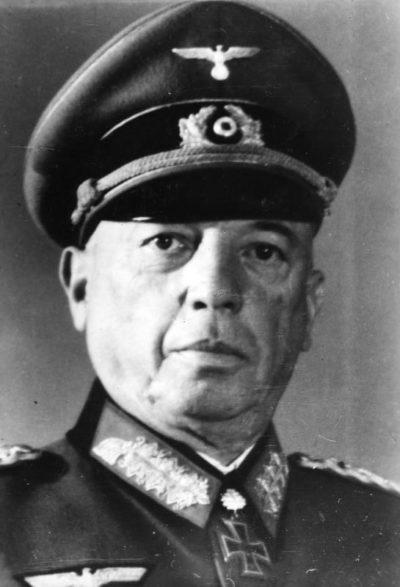 Кюхлер Георг Карл Фридрих Вильгельм фон (Georg Karl Friedrich Wilhelm von Küchler) (30.05.1881 - 25.05.1968)