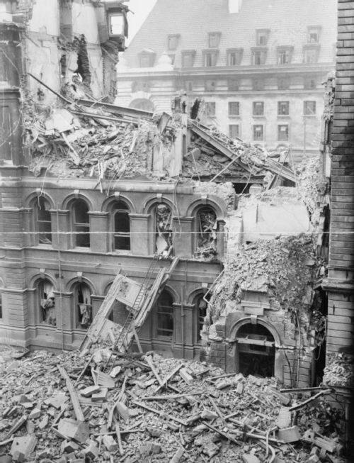 Разрушенная больница Святого Томаса в Ламбете. Сентябрь 1940 г.
