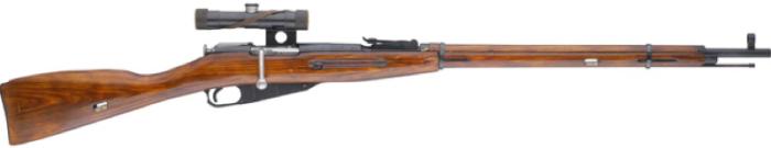 Снайперская винтовка Мосина образца 1891/30 г. с оптическим прицелом ПУ