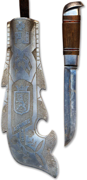 Финский нож кустарного изготовления периода зимней 1939-1940 гг. и второй мировой войн