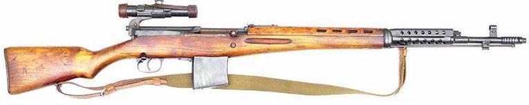 Самозарядная винтовка Токарева СВТ-40 с оптическим прицелом ПУ