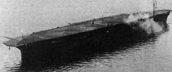 Авианосец «Hosho» после модернизации 1924 г.