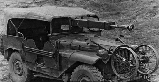 Пушка ЧК-М1, установленная на автомобиле ГАЗ-64