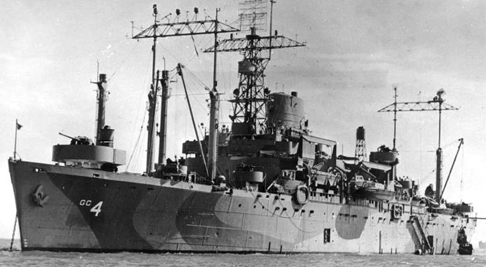 Командный десантный корабль «Аncon» (AGC-4)