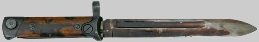 Штык обр. 1938 г. с зафиксированным клинком к винтовкам и карабинам системы Carcano