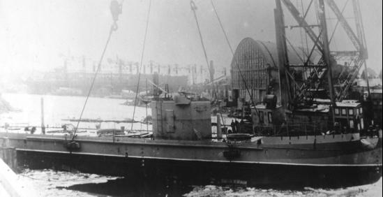 Спуск на воду бронекатера типа «МБК»