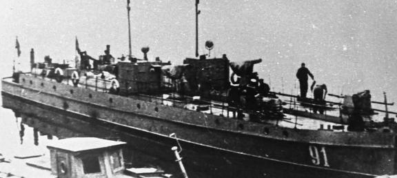 Речной бронекатер «БК-91» (Тревога)
