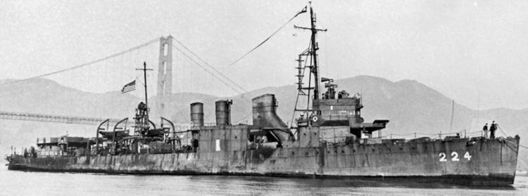 Патрульный корабль «102» (DD-224 Stewart)