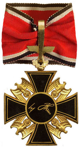 Реверс Немецкого Ордена 2-го класса с Дубовыми листьями
