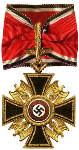 Аверс Немецкого Ордена 2-го класса с Дубовыми листьями