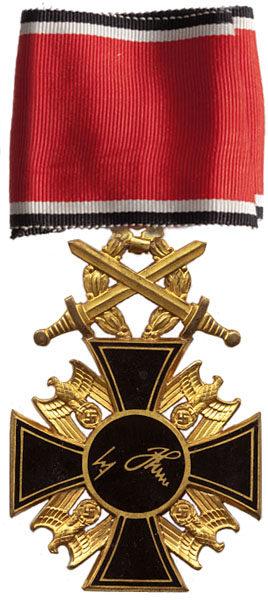 Реверс Немецкого Ордена 1- го класса с Дубовыми листьями и Мечами