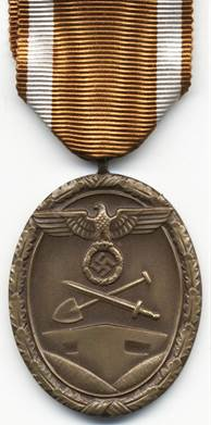 Аверс медали «За строительство Западного вала».