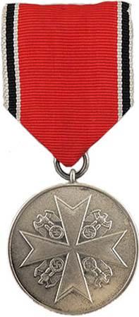 Аверс Немецкой медали за заслуги Ордена немецкого Орла в серебре.