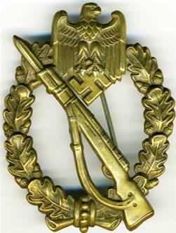 Штурмовой пехотный знак в бронзе для моторизованных частей