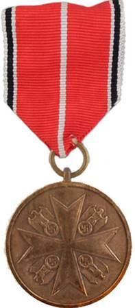 Аверс Немецкой медали за заслуги Ордена немецкого Орла в бронзе.