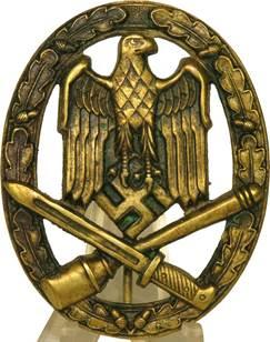 Знак «За участие в общих штурмовых атаках» в бронзе