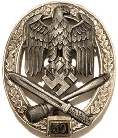 Знак «За участие в общих штурмовых атаках» 50 атак