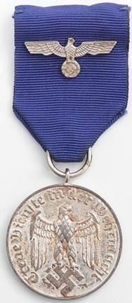 Аверс медали за 4 года службы.