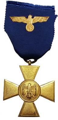 Аверс медали за 25 лет службы.