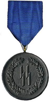Аверс медали за 4 года службы в СС.