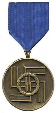 Аверс медали за 8 лет службы в СС.