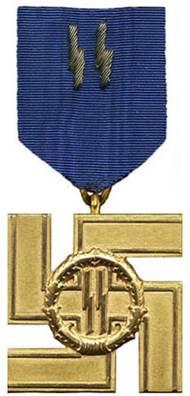 Аверс медали за 25 лет службы в СС.