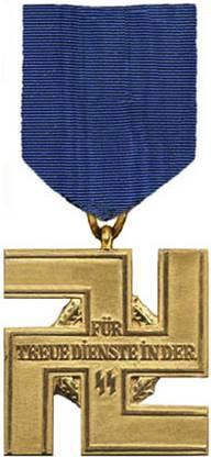 Реверс медали за 25 лет службы в СС.