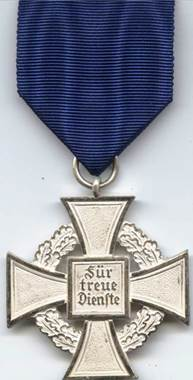 Реверс креста за 25 лет выслуги.