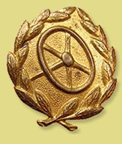 Знак «Военный водитель» в бронзе.